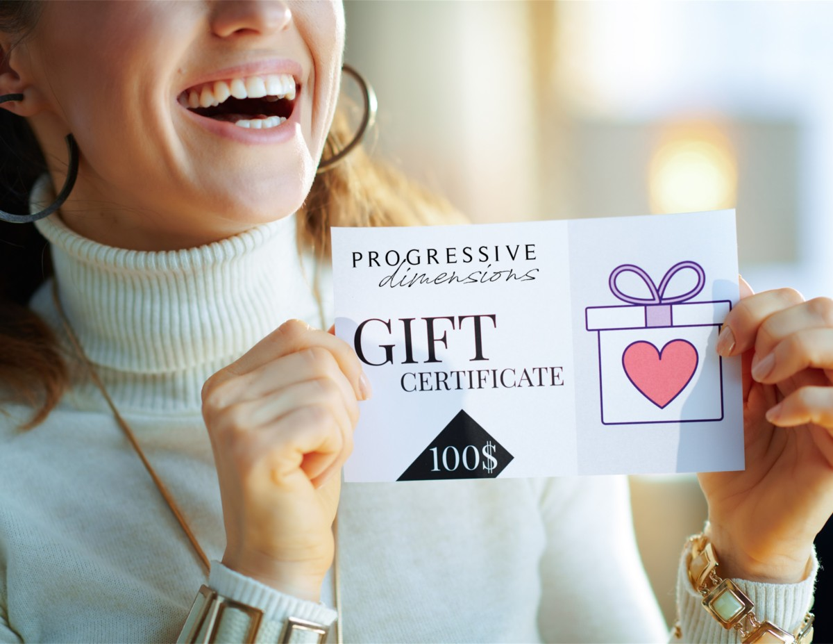 Progressive Dimensions gift-card